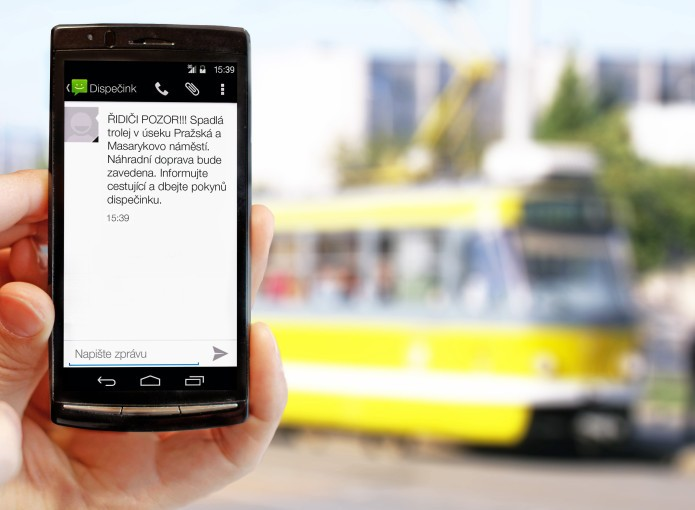 SMS are used by hospitals, public transport companies and courts